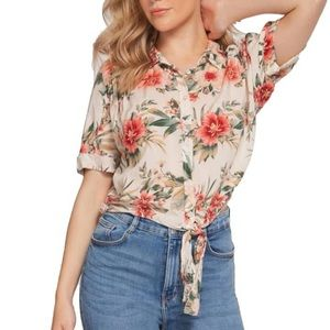 DEX | Keana Floral Front Tie Blouse sz M